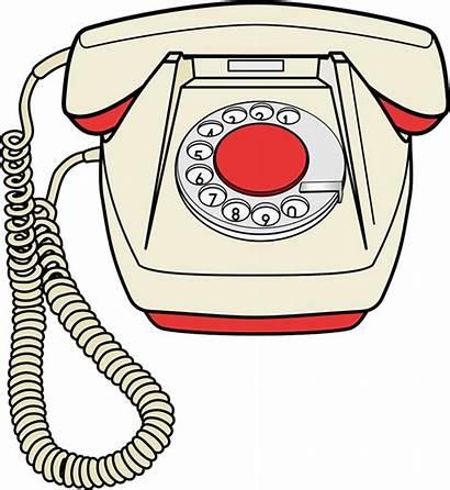 Telephone Phone Clipart Fashioned Transparent Cartoon Telepon