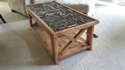 ana white letter press rustic  coffee table diy projects