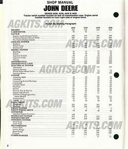 John Deere Tractor Repair Manual