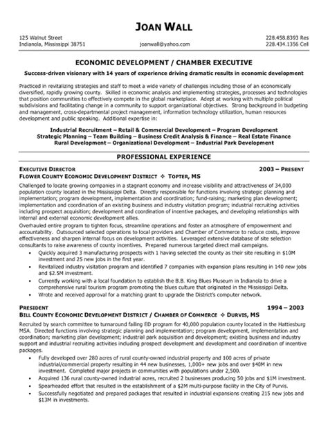 non profit resume sles sle resumes