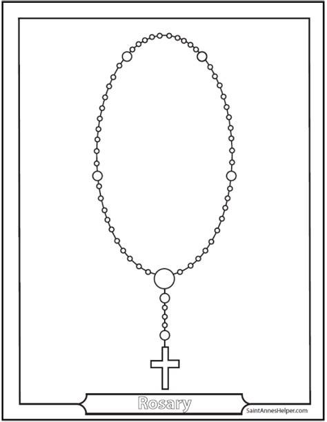 rosary diagrams  rosary cards  print