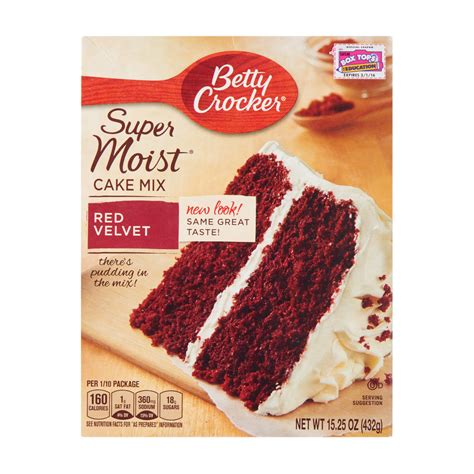 betty crocker supermoist red velvet cake mix