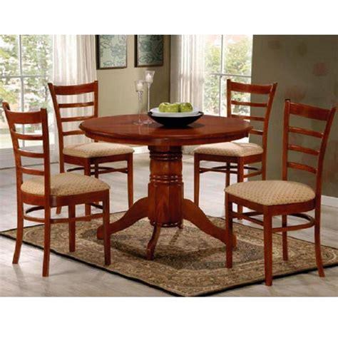 juego de comedor redondo  sillas tapizadas madera