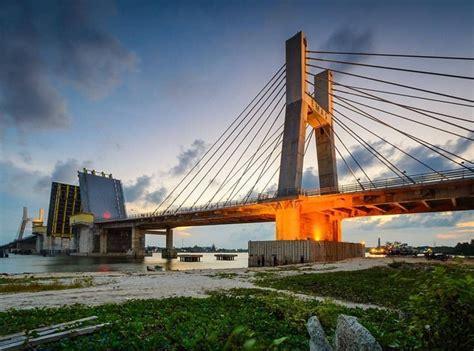 melihat keindahan jembatan emas bangka belitung  mirip