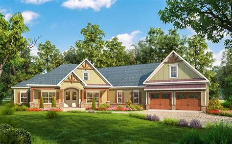 Craftsman House Plan With Angled Garage 36032dk