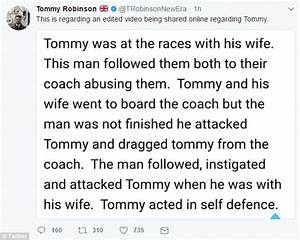 Tommy Robinson is filmed punching a man in Royal Ascot ...