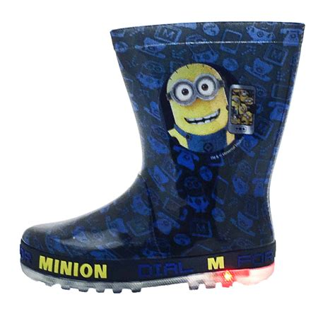 light up boots for girls kids character flashing light up wellington boots rain