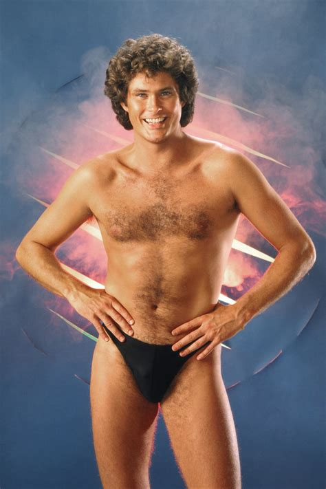 Julios Thongs For by David Hasselhoff Hunky Bare Chested Pin Up In Speedo