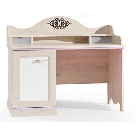 bureau bebe fille bureau baroque pour fille coloris bois naturel et blanc