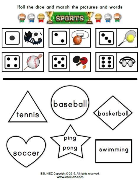 sports worksheets  kids