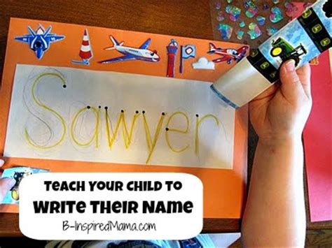 how to teach a child to write their name with a rainbow 562 | Rainbow Name Sign 1