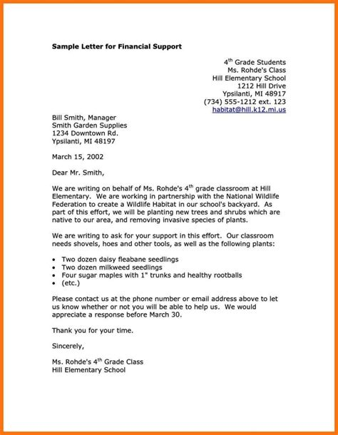 financial support letter template sampletemplatess