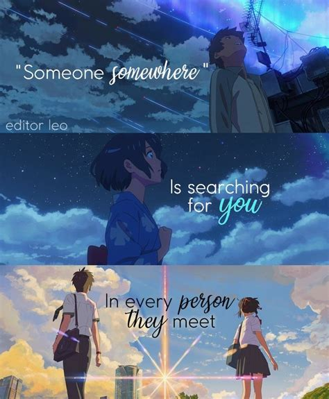 Kimi No Na Wa Your Name Kimi No Na Wa Your Name Quotes Your Name