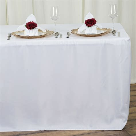 tablecloth for 8 foot table 8 ft fitted 96x30 quot polyester tablecloth wedding catering