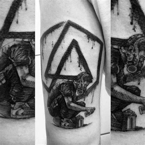 linkin park tattoo ideas  men rock band designs