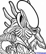 Alien Coloring Pages Xenomorph Drawings Drawing Cute Sheets Tattoo Uploaded User Horror sketch template