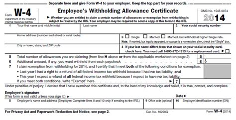 a brief guide for employers w4 forms staff one