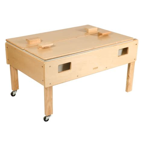 how to sand a table full size deluxe sand or water play table with top