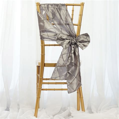 50 pintuck chair sashes bows ties for wedding