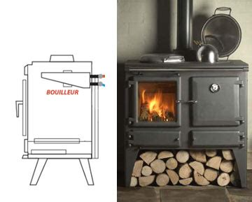 poele a bois cuisine poêle à bois bouilleur production d 39 eau chaude depuis la