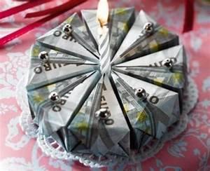 Geldgeschenke Zum Geburtstag Die Geldscheintorte
