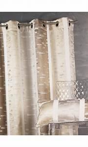 Rideaux Rayures Verticales : rideau en jacquard design rayures verticales beige bordeaux gris homemaison vente ~ Teatrodelosmanantiales.com Idées de Décoration