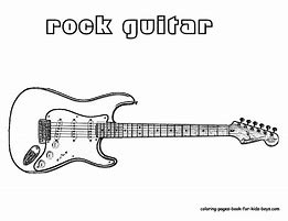 HD Wallpapers Guitar Coloring Pages For Kids