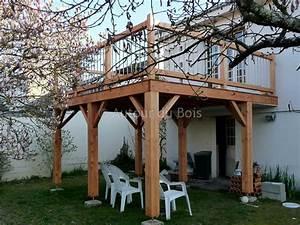 Construire une terrasse bois sur pilotis for Comment faire une terrasse bois sur pilotis