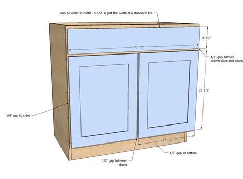 ana white build a 36 quot sink base kitchen cabinet