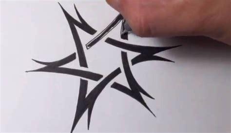 drawing  tribal star  david tattoo design quick