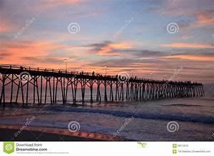 Morning Along The Pier Stock Photo - Image: 58113510