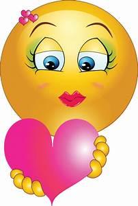 Cute Girl Heart Emoticon Smiley Clipart | i2Clipart ...