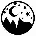 Sky Night Icon Himmel Nacht Symbol Icons