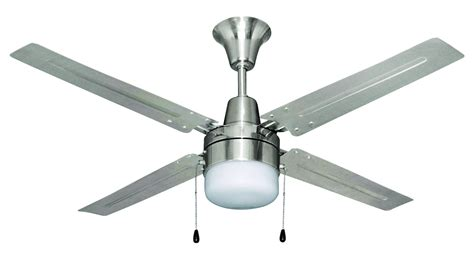 craftmade brushed chrome finish ceiling fan with light kit
