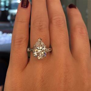 platinum 528ct pear shape gia certified diamond With pear shaped wedding ring