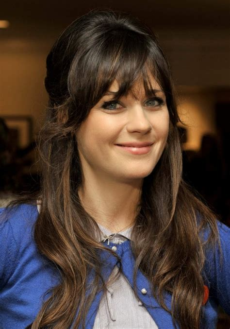 zooey deschanel hairstyles hairstylo