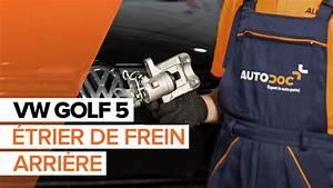 Comment Degripper Un Etrier De Frein : comment remplacer un trier de frein arri re sur une volkswagen golf 5 tutoriel autodoc youtube ~ Medecine-chirurgie-esthetiques.com Avis de Voitures