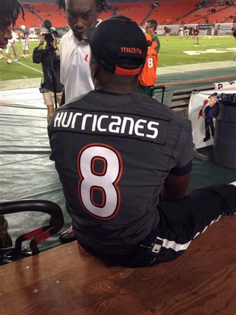 miami hurricanes wear special smoke uniforms