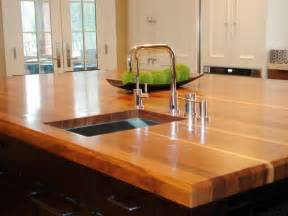 countertop for kitchen island butcher block and wood countertops hgtv