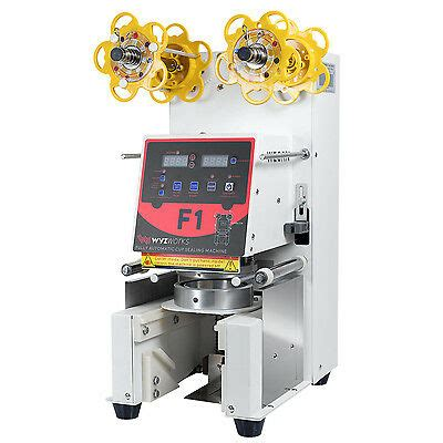 fully automatic cup sealing machine boba tea milk coffee bubble white  ebay