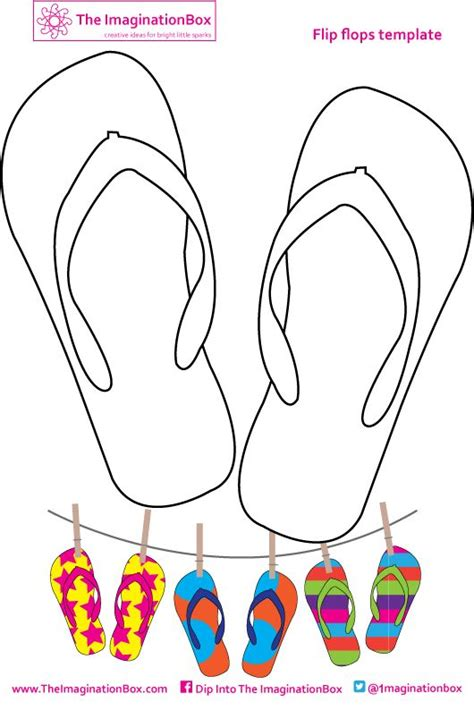 flip flop template glenda s world flip flop tags