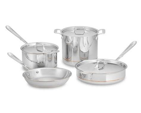 clad copper core  piece cookware set copper cookware set cookware set cookware sets
