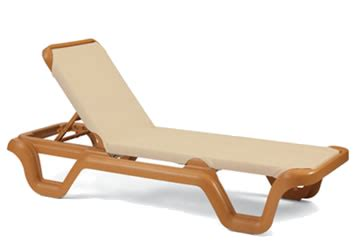 pool furniture supply chaise lounge sling plastic resin marina