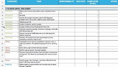 Planning Event Template Step Guide Excel Sheet