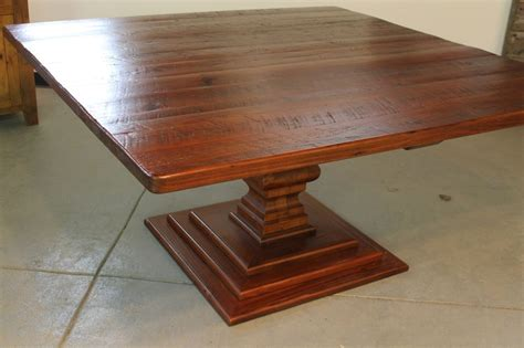 square dining table   custom  room extendable