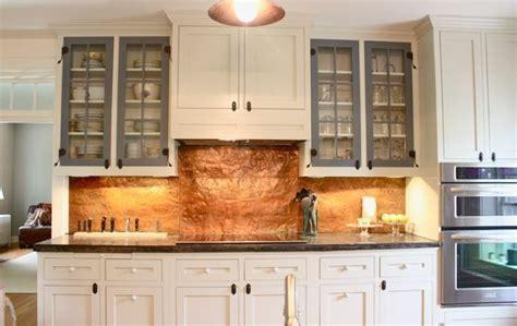 hammered copper backsplash kitchen copper cabinets and hammered copper on 4116