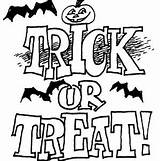 Coloring Trick Treat sketch template