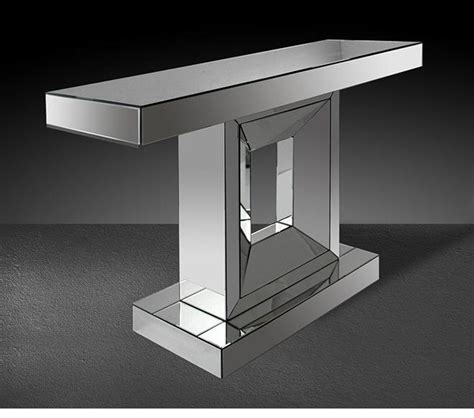 modern console table with mirror dreamfurniture com windsor modern mirrored console table