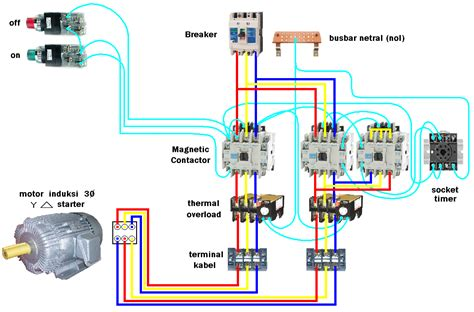 Star Delta Motor Starter Connection Diagram Three Phase