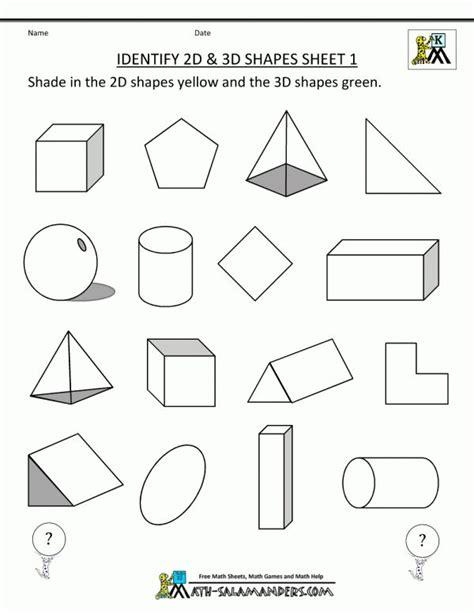 shape worksheet grade  grade  images